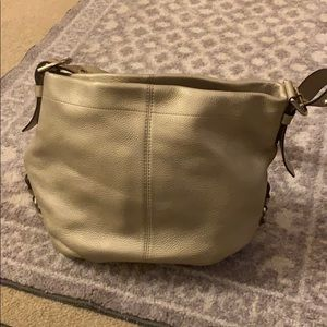 Gold/champagne coach purse! Great condition!